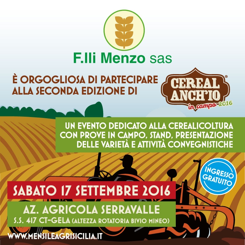 Cereal Anch'io - in campo 2016